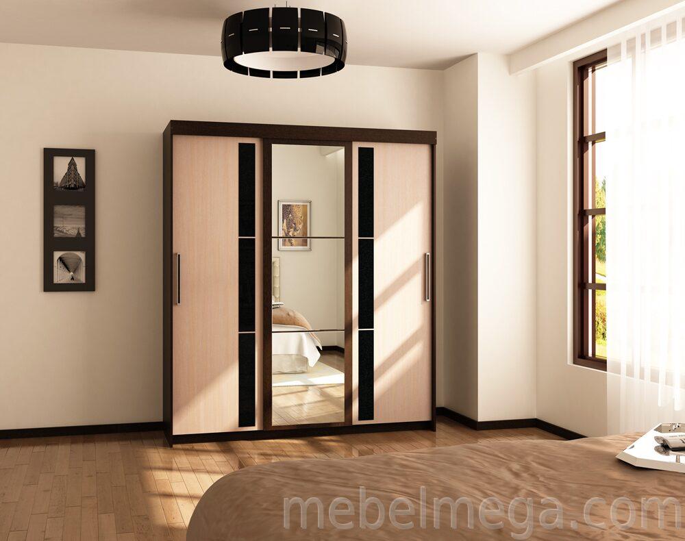 Корпусная мебель с угловым шкафом венге молочный дуб